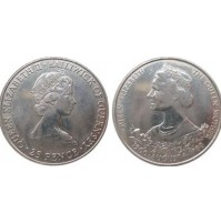 Guernsey (Reino Unido) -  25 Peniques de 1980 - 80th cumpleaños de la Reina Madre
