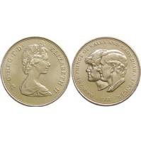 Reino Unido - 25 peniques 1981 - Bodas Reales Príncipe de Gales y Lady Diana Spencer
