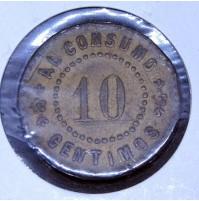 Ficha de Casino de 10 céntimos