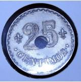 Ficha de Casino 25 céntimos