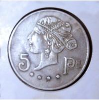 Ficha de Casino 5 pesetas 1900