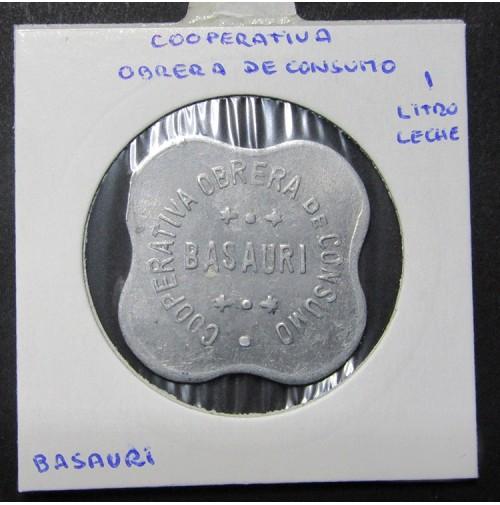 Chapa Cooperativa Obrera de Consumo 1 Litro de Leche de Basauri