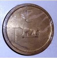 Fichas de Casino de 1, 2 y 5 pesetas M.M.