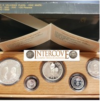 España - V Centenario - Colección 5 Valores plata FDC MATE 1989 - Serie I