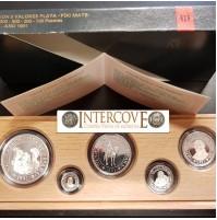 España - V Centenario - Colección 5 Valores plata FDC BRILLO 1991 - Serie III