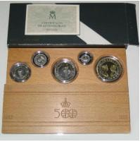 España - V Centenario - Colección 5 Valores plata FDC MATE 1992 - Serie IV