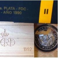 España - V Centenario - 5000 Pesetas plata FDC Serie II 1990