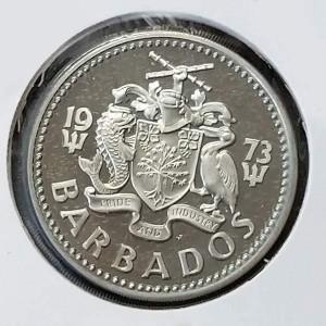 Barbados - 2 Dólares de 1973