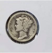 Estados Unidos (EE.UU.) - 1 Dime 1919 Plata