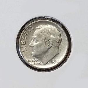 Estados Unidos (EE.UU.) - 1 Dime 1954 Plata