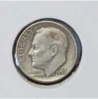 Estados Unidos (EE.UU.) - 1 Dime 1959 Plata