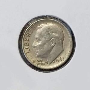 Estados Unidos (EE.UU.) - 1 Dime 1963 Plata