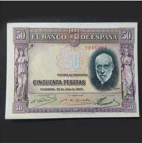 España - 50 Pesetas 1935 - Santiago Ramón y Cajal