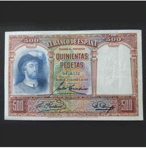 España - 500 Pesetas 1931 (Juan Sebastián Elcano)