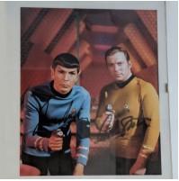 Autógrafos de Willian Shatner y Leonard Nimoy