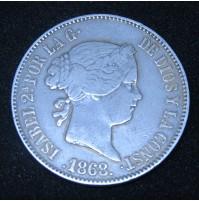 España - 1 Escudo 1868 Isabel II