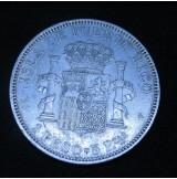 España - 1 Peso de Puerto Rico de 1895 - PG-V de Plata