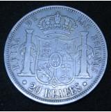 España - 20 Reales 1858 Isabel II - Madrid