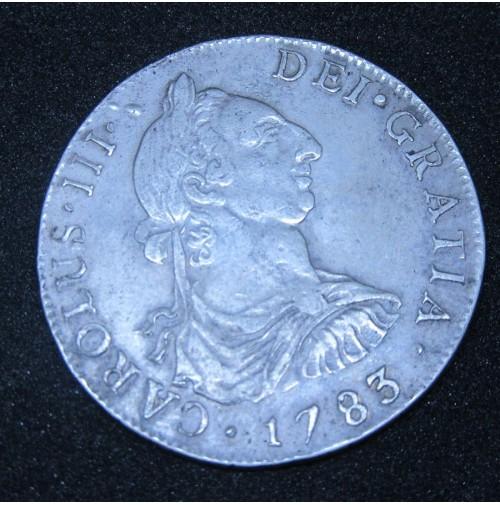 España - 4 Reales 1783 Carlos III - Santiago D A