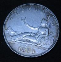España - 5 Pesetas 1870 *18 *70 SN M