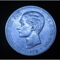España - 5 Pesetas 1878 DE M - Alfonso XII