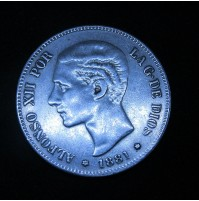 España - 5 Pesetas 1881 *18 *81 MS M Alfonso XII