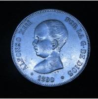 España - 5 Pesetas 1890 *18 *90 MP M Alfonso XIII