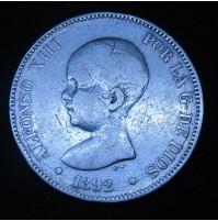 España - 5 Pesetas 1892  *9_ PG M Alfonso XIII