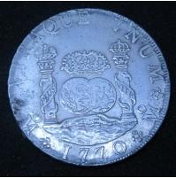 España - 8 Reales 1770 MF México de plata