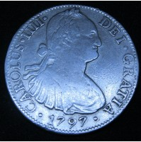 España - 8 Reales 1797 México FM Carlos IIII