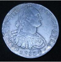España - 8 Reales 1804 México TH Carlos IIII