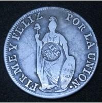 España - 8 Reales 1836 Fernando VII - Peru (Resello)