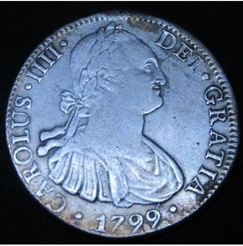 España - 8 Reales 1799 FM México Carlos IIII