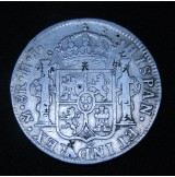 España - 8 Reales 1810 México HJ Fernando VII (Resellos Chinos)