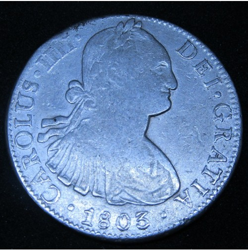 España - 8 Reales 1803 México FT Carlos IIII