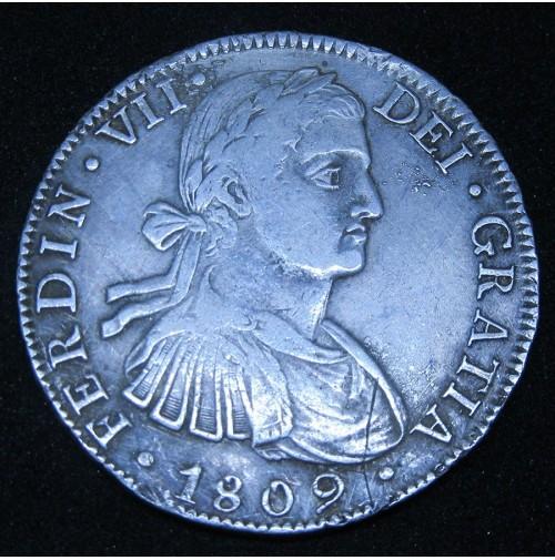 España - 8 Reales 1809 México TH Fernando VII