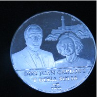 Cuba - 10 Pesos 1999 Plata - Visita Reyes de España
