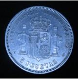 España - 5 Pesetas 1871 - Amadeo I - 18 71 de Plata