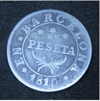 España - 1 Peseta 1810 de Barcelona