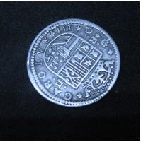 España - 2 Reales 1708 Carlos III - Plata