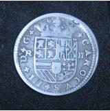 España - 2 Reales 1711 Carlos III - Plata