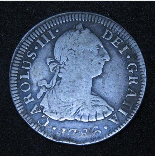 España - 2 Reales 1786 Carlos III México FM
