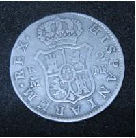 España - 2 Reales 1794 Carlos III Madrid - Plata