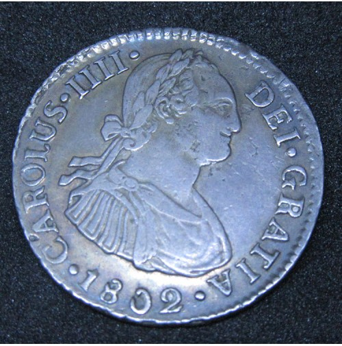España - 2 Reales 1802 Lima - Carlos IIII (IV) - Plata