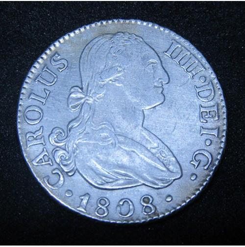 España - 2 Reales 1808 Madrid - Carlos IIII (IV) - Plata