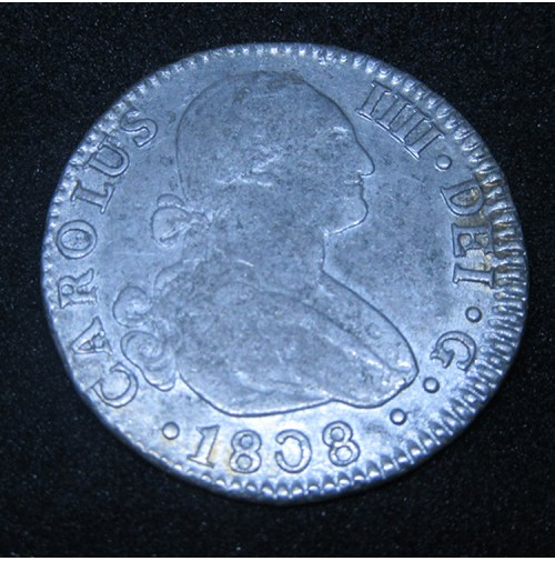 España - 2 Reales 1808 Sevilla CN - Carlos IIII (IV) - Plata