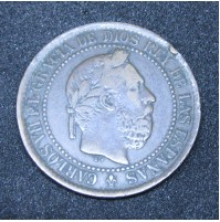 España - 5 Céntimos 1875 Cobre - Carlos VII