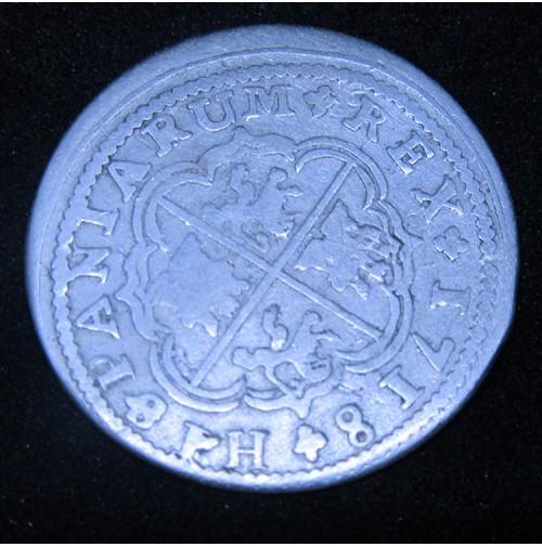 España - 2 Reales 1718 Cuenca JJ - Felipe V - Plata