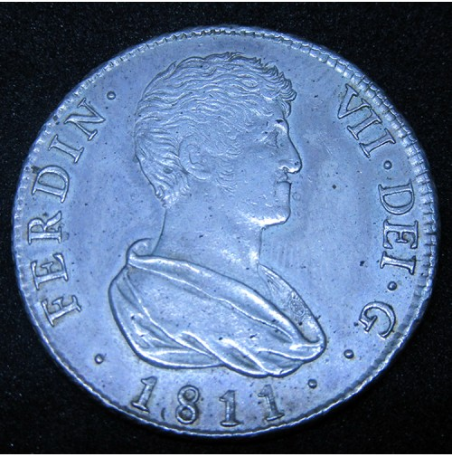 España - 4 Reales 1811 Fernando VII de Valencia - Plata