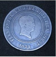 España - 10 Reales de 1821 Madrid - Plata